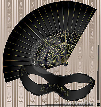 old mask and fan