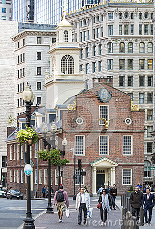 Old Massachusetts State House Editorial Photo