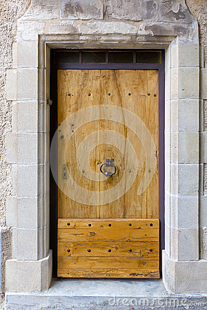 Old massive wooden door