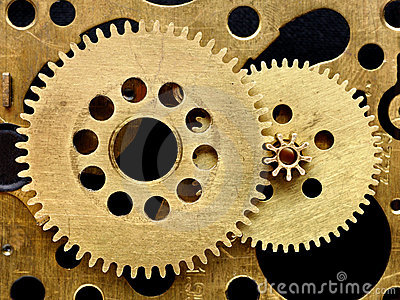 Old mechanism with gears