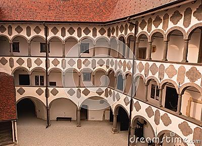 Old medieval castle yard. Veliki Tabor