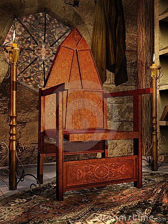 Old medieval chair