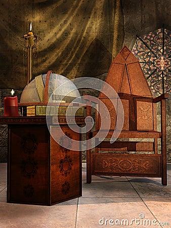 Old medieval room