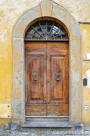 Old medieval style door
