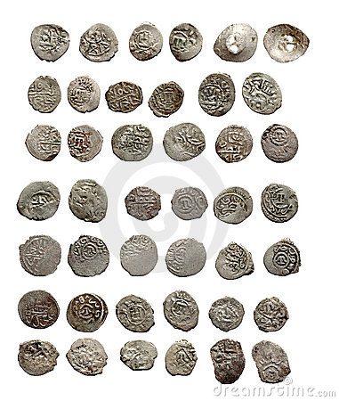 Free Old Medieval Turkish And Tatar Coins Royalty Free Stock Photos - 17369088