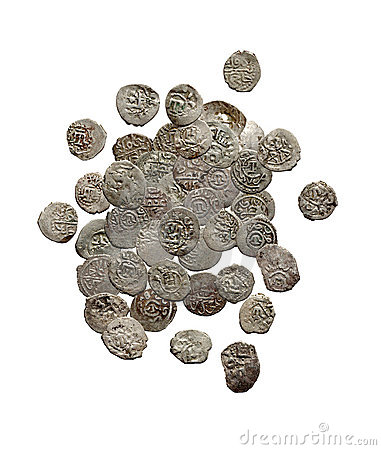 Old medieval turkish and tatar coins