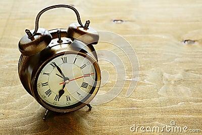 Old metal alarm clock