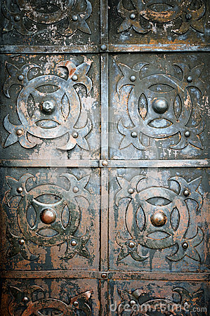 Free Old Metal And Rusty Door Royalty Free Stock Images - 41003499