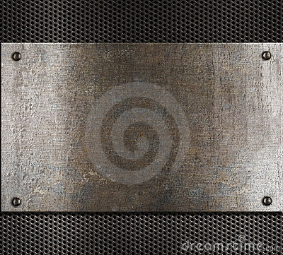 Old metal background in steam punk style