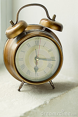 Old metal clock
