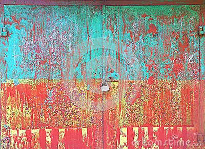 Old Metal colorful rusty grunge Background