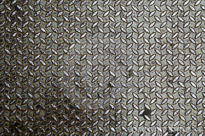 Old metal diamond plate