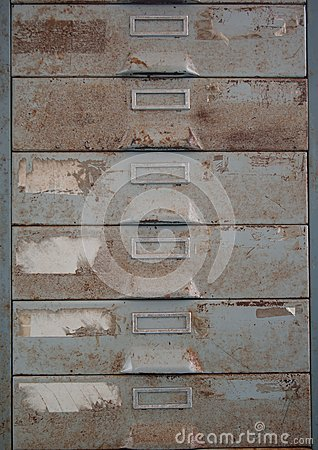 Free Old Metal File Cabinet Is Rust. Royalty Free Stock Image - 33118756