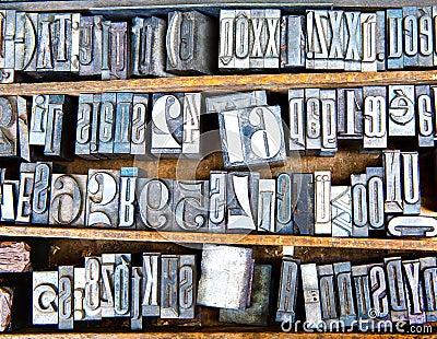 Old metal fonts