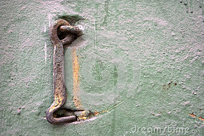 Old metal hook.