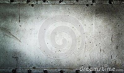 Old metal plate