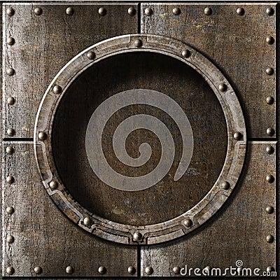 Free Old Metal Porthole Background Stock Photo - 33979740