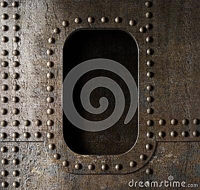 Free Old Metal Porthole Background Stock Images - 34641534