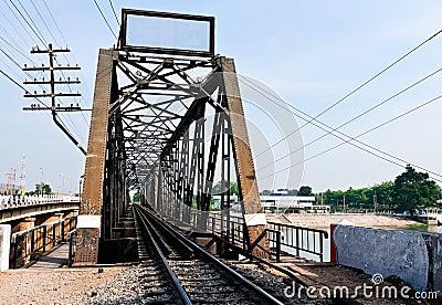Old metal railway bridge