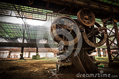 Old metallurgical firm waiting for a demolition