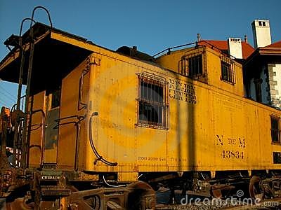 Old Mexican train car