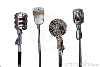Old microphone collection