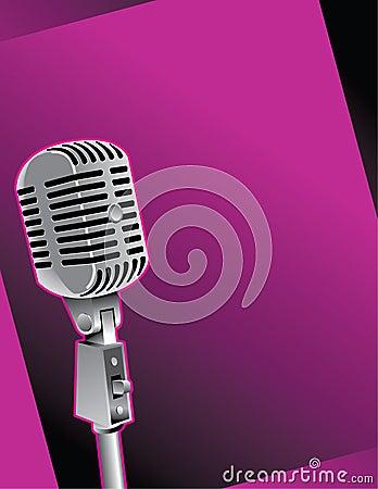 Old Microphone Illustration