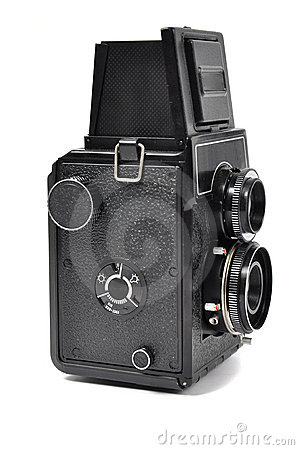 Old middle-format camera