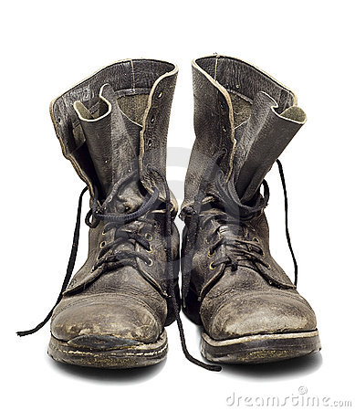 Free Old Military Boots Stock Photography - 19118792