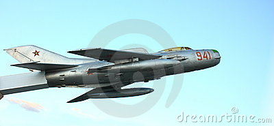 Old military jet fighter