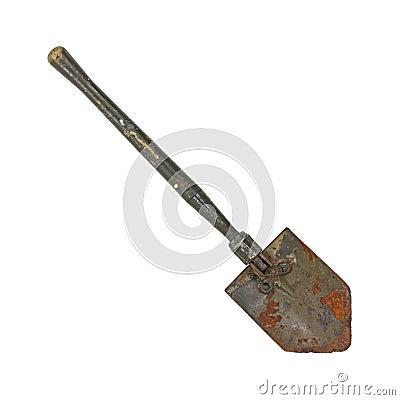 Free Old Military Shovel Royalty Free Stock Image - 17723466