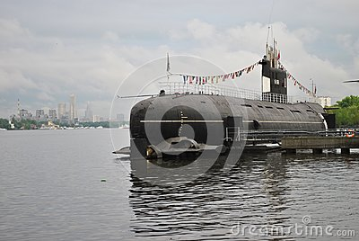 Old military submarine