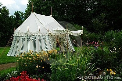 Old military tent