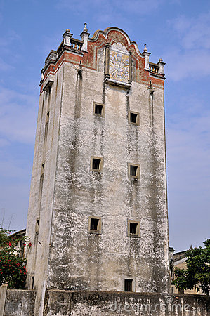 Old military watchtower in Southern China