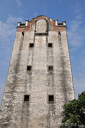 Old military watchtower of Southern China