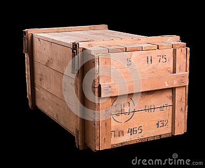 Old military wooden box