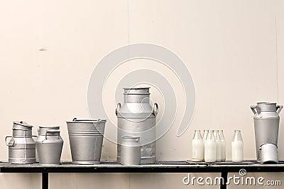 Old milk jugs