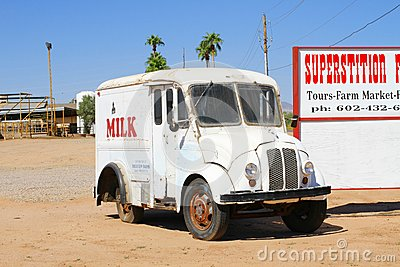 USA, Arizona: Old Munroe Milk Truck  Editorial Stock Photo