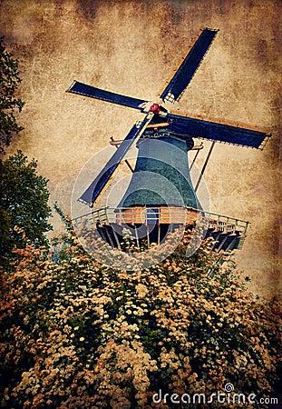 Old mill in Keukenhof