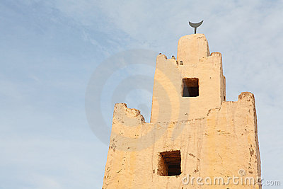 Old minaret in Morocco