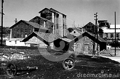 Old Mineralogical factory in Lavrion, Greece Editorial Stock Photo
