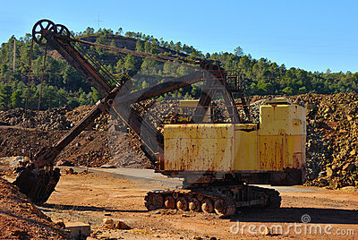 Old mining machine