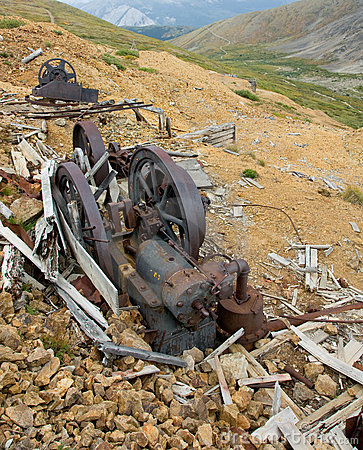 Old mining machinery
