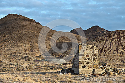 Old mining site in the Nevada desert