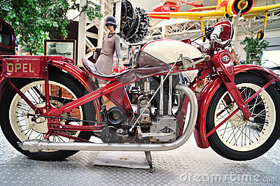 Old model of Opel motorcycle Editorial Photography