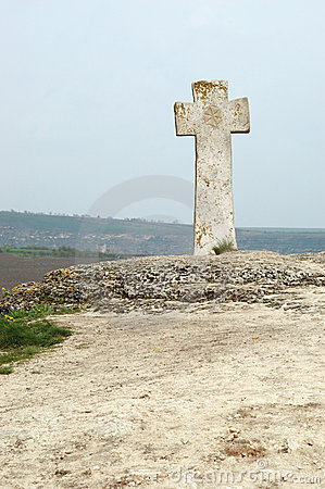 Free Old Moldavian Orthodox Cross In Orhei,Moldova Royalty Free Stock Image - 14781186