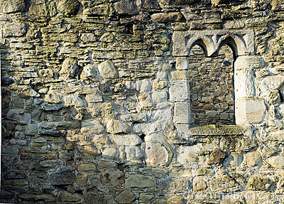 Old Monastary Brick Stone Wall