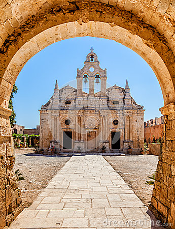 Free Old Monastery Behind The Arch Stock Photo - 36756840