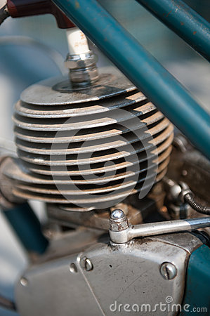 Old moped engine