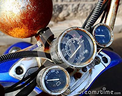 Old moto panel